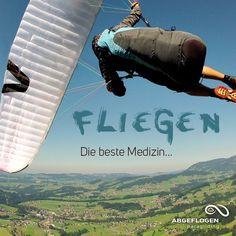 Fliegen. Die beste Medizin #paragliding #gleitschirmfliegen #abgeflogen #paragleiten #fliegen #fun