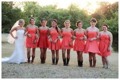 Coral and rustic wedding inspiration, In His Image Film and Photo, via Aphrodite's Wedding Blog