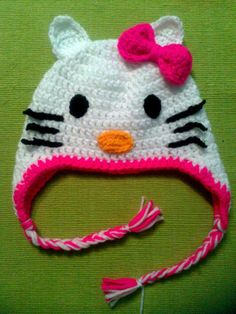 Gorro Kitty con orejeras