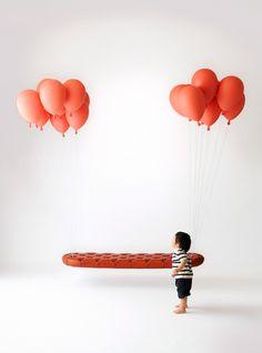 Floating Balloon Bench by Satoshi Itasaka #Balloon_Bench #Satoshi_Itasaka