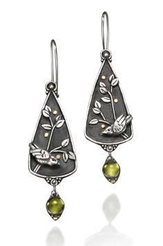 Goldberry Earrings by Vickie Hallmark (Silver & Stone Earrings) | Artful Home