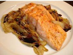 Gebackener Lachs auf Chicoree - Rezept