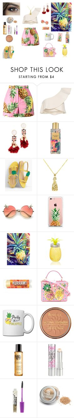 """Pineapple 🍍 style"" by the-designerduchess ❤ liked on Polyvore featuring Dolce&Gabbana, Isabel Marant, Tory Burch, Victoria's Secret, Talbots, The Casery, Rimmel, Guerlain, Benefit and Boohoo"