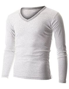 FLATSEVEN Mens Casual Small Striped V-Neck Long Sleeve Tee Shirt (TVL1001) Grey, L FLATSEVEN http://www.amazon.com/dp/B00PP8I55O/ref=cm_sw_r_pi_dp_TYl1ub1EF9SMY