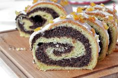 przepis na makowiec zawijany Sweet Bakery, Polish Recipes, Bread Recipes, Sushi, Ale, Pudding, Dinner, Vegetables, Cooking