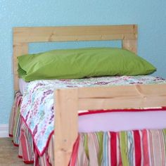 As a parent, I am constantly learning new things about my daughter's likes and dislikes. I recently learned that her all-in-one bed is pointless if she. Diy Toddler Bed, Woodworking Tools For Beginners, Kids Woodworking, Diy Bett, One Bed, Stylish Beds, Crib Mattress, Ikea Furniture, Furniture Ideas