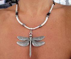 women leather necklace genuine leather and silver por kekugi