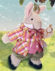 Couture Hoppy White Rabbit [04-4561] - $35.00 : Village Bears, Your Friendly Bear Store