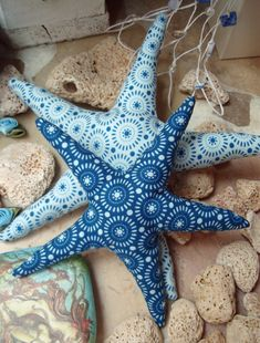 Pair of Starfish in Tilda Fabric