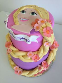 3D Repunzel Birthday Cake-Krystle i found your next cake project =)