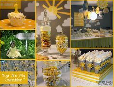 You Are My Sunshine Party!  Lots of great ideas!
