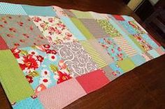 Magic Disappearing 9 Patch Table Runner set with squares in the center 12 quarter blocks needed/ 3 9-patches