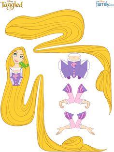Tangled Rapunzel Paper Craft Printable 0910 | Scribd