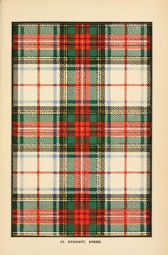 Traditional Scottish Tartan designs digitized book of The Scottish Clans and their tartans