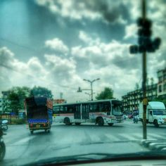 Intersection. #Pune #Travel #Road #Cloud #Urban