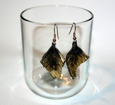 Bekijk dit items in mijn Etsy shop https://www.etsy.com/listing/497441971/dark-brown-leather-earrings-original