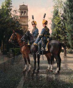 Cazadores de Lusitania 1909. Convento de S. Jerónimo de Granada