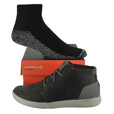Merrell Men's Freewheel Chukka Shoe with Made in USA socks Bundle Charcoal size 10M (US) Merrell  $119.95