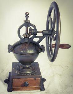 Antique GOLDENBERG Coffee Grinder Mill c1845 Cast-Iron Moulin a cafe  #Goldenberg
