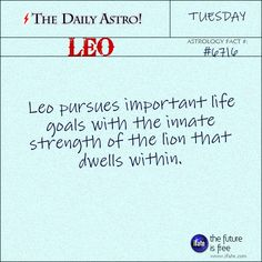 Leo Daily Astro!: Even if you don't know how to read a birth chart, you can get a free step-by-step reading on iFate.  Visit iFate.com today!