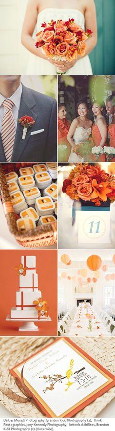 Chinese wedding in orange - change all the orange to red? Ideas for @Kathryn Whiteside Whiteside Vecomnskie