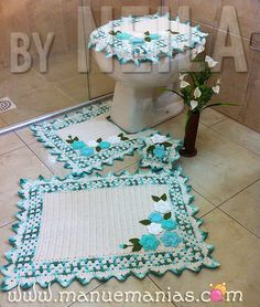 Jogo De Banheiro By Manu e Manias Crochet