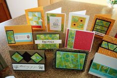 One sheet wonder cards...wow