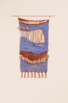 """Love this modern take on traditional weaving and soft sculpture techniques. exhibition-ism: """" Weavings from NYC based artist Mimi Jung """" Art Fibres Textiles, Textile Fiber Art, Weaving Textiles, Weaving Art, Tapestry Weaving, Loom Weaving, Textile Prints, Textile Design, Hand Weaving"""