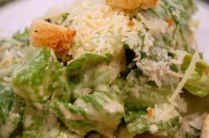 Food   Fabulous Caesar Salad ~ best salad in the world! Q. Do you know who invented the beloved Caesar salad?   A. If you're not sure, you're not alone. There are several theories regarding its origin. Most people believe the salad was born... #delicious