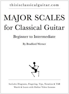 A PDF eBook of Major Scales for Classical Guitar for beginners and intermediate guitarists. Includes, TAB, Notation, Video Lessons, Tips, Fingerings, and more.  Link: http://www.thisisclassicalguitar.com/major-scales-for-classical-guitar/  #guitar #classicalguitar #scales