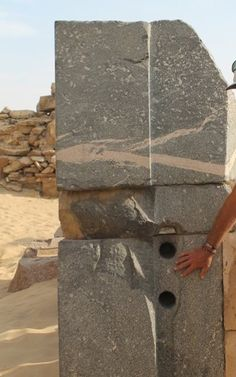Drill holes in Egypt