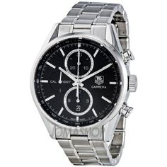 33% Off was $5,300.00, now is $3,555.00! TAG Heuer Men's CAR2110.BA0720 Carrera Black Dial Chronograph Steel Watch