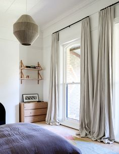 Modern Bedroom Curtain Styles - Modern Bedroom Curtain Styles, Cool 45 Modern Bedroom Curtain Designs Ideas More at S Farmhouse Curtains, Rustic Curtains, Diy Curtains, Curtains With Blinds, Drapery Panels, Floor To Ceiling Curtains, Vintage Curtains, Floral Curtains, Bedroom Blackout Curtains