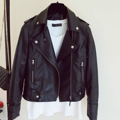 Cheap jacket discount, Buy Quality jacket cover directly from China jacket yamaha Suppliers: New Autumn Winter Pu Leather Jacket Faux Soft Leather Coat Slim Black Rivet Zipper Motorcycle Jackets Womens Biker Jacket Winter Coats Women, Coats For Women, Jackets For Women, Clothes For Women, Plus Size Outerwear, Outerwear Women, Pink Jacket, Jacket Style, Faux Jacket