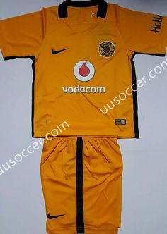 2f3f83919 2016-17 Kaizer Chiefs Home Yellow Kids Youth Soccer Uniform Youth Soccer