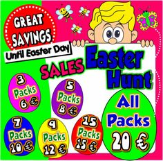 The more you buy... the more you SAVE! Until Easter Day you can choose your set of ESL teaching Packs according to your needs!  After choosing your set, email me  referring  which packs you want to buy. - See more at: http://www.teachenglishstepbystep.com/#sthash.jPHzhGxE.dpuf