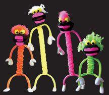 Blacklight Puppets - Stretch-A-Belly blacklight puppet