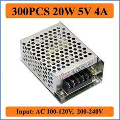 300PCS 20W 5V 4A Switching Power Supply Driver Metal AC 100-240V to DC 5V 4A 20W Voltage Transformer For LED Strip Light #Affiliate