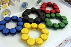 Such a cool cupcake idea for an Olympics party! See more party ideas at CatchMyParty.com.