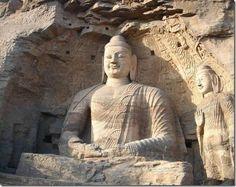 Name: Big Buddha of Yungang (Shakyamuni Buddha)  Material: stone  Height: 17 meter  Year of completion: 524  Location: Shanxi Province, Datong City West 16km