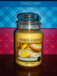 Yankee Candle 22 oz Jars Retired Food Scents 'banana cream pie '
