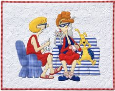 """Quilting Friendsdownload pattern is a 22 page pdf file you download and print on your home printer. Be sure """"Actual Size"""" is checked in the print box when pri"""