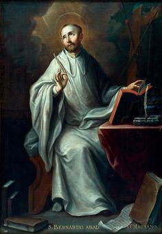 San Bernardo, Pintura Colonial, Bernard Of Clairvaux, Rennaissance Art, Lives Of The Saints, Religious Art, Artwork, Painting, Random Stuff