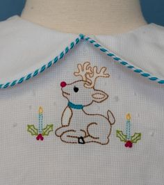 A lovely and sweet shadow embroidery in the hoop design for your Christmas projects.  Two versions are included in the download.  This design was featured in Cl