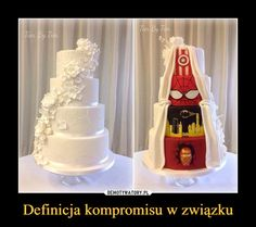 I want this, but they're all gonna be Marvel characters. Spider-man, Star Lord, Doctor Strange, and Black Widow. And of course I couldn't forget my favorite person of all. Superhero Wedding Cake, Superhero Cake, Wedding Cake Designs, Wedding Cakes, Polish Memes, Traditional Wedding Cake, Food Tags, 139, Cute Wedding Ideas