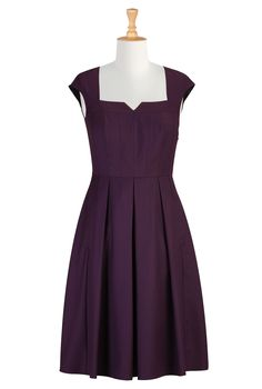 eShakti.com - Womens Full sleeve Dresses - Cocktail Dresses, Plus Size Cocktail Dresses, Elegant Dresses Be a sweetheart dress
