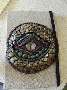 Dragon Eye journal cover  .... Polymer Clay