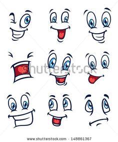 """cartoon Eyes"" Görseller, Stok Fotoğraflar ve Vektörler Emoji Drawings, Drawing Cartoon Faces, Cartoon Expression, Cartoon Eyes, Stone Crafts, Rock Crafts, Drawing Expressions, Arte Pop, Pebble Art"