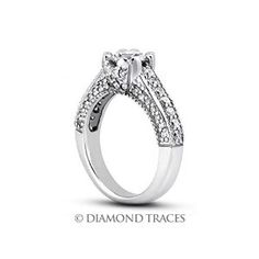 4.05 Carat D-IF Very Good Round Natural Diamond Platinum Vintage Engagement Ring with Milgrain