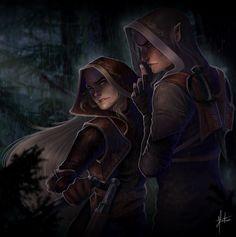 Aelin and Rowan by JoPainter (twitter)